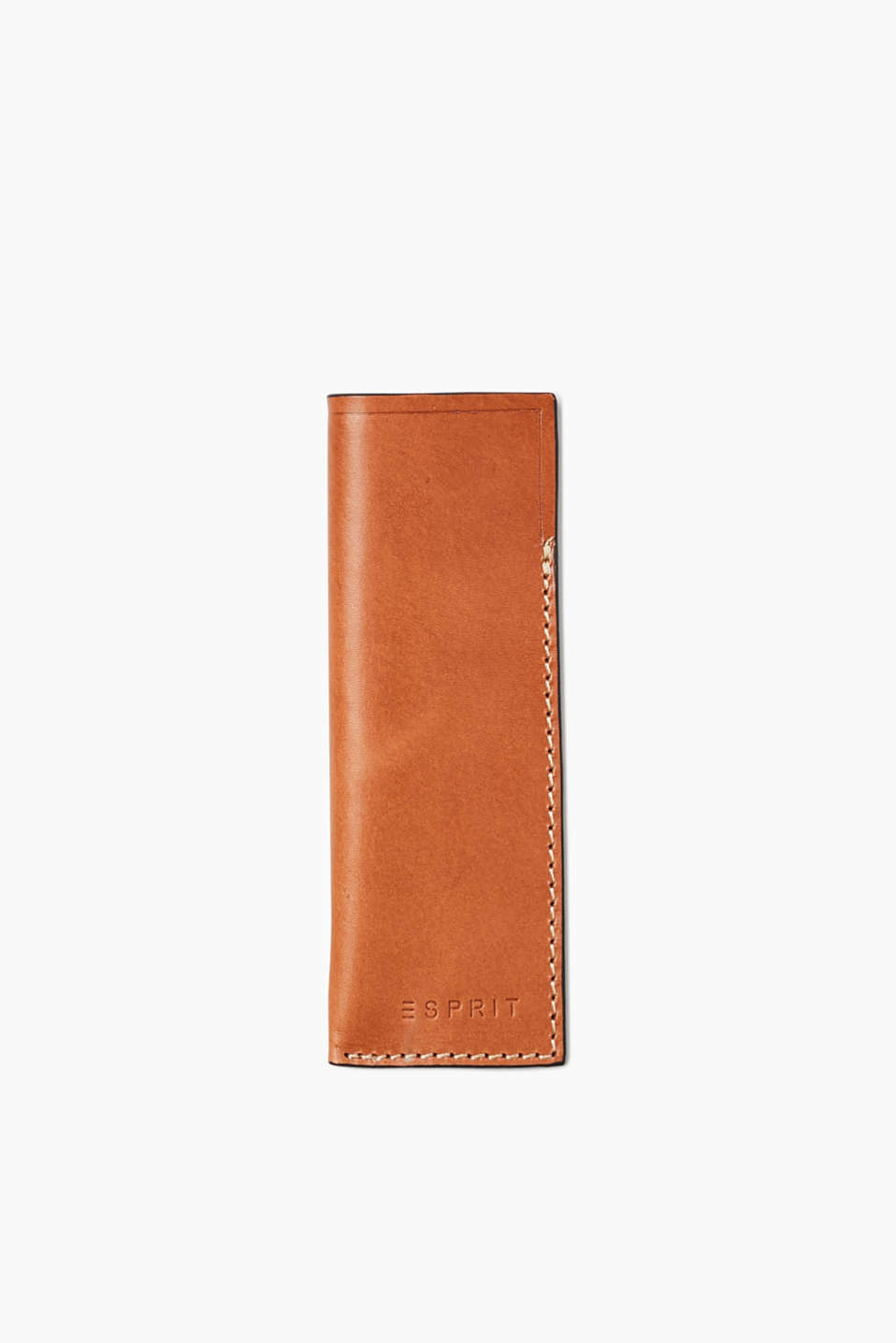 The smooth leather only looks more striking with age – pencil case in a compact design.