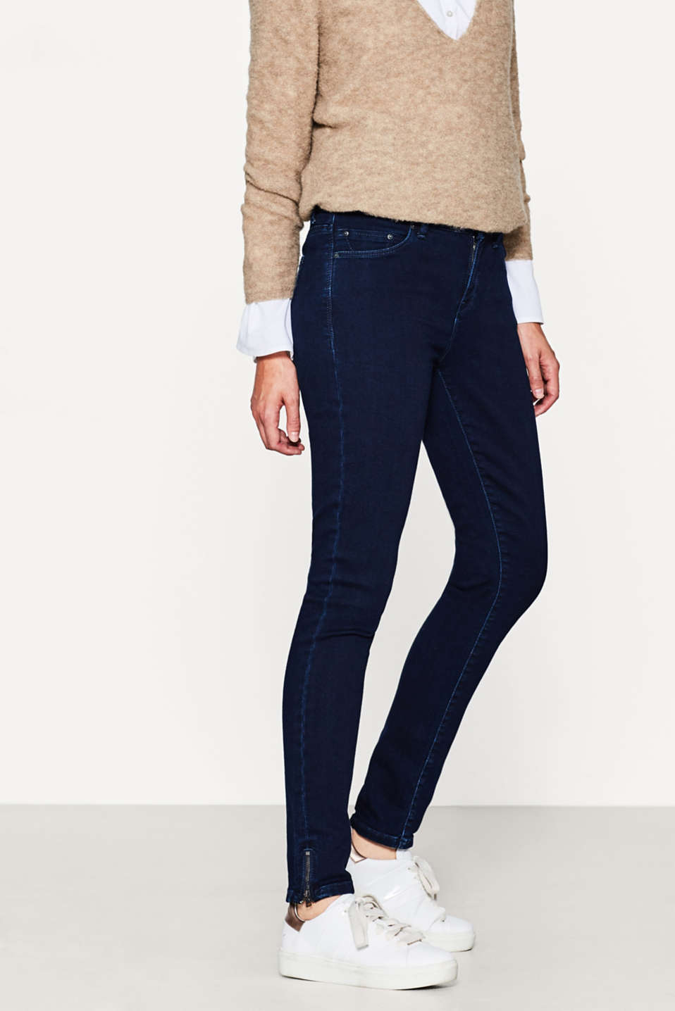 Esprit - Super soft stretch jeans with zips