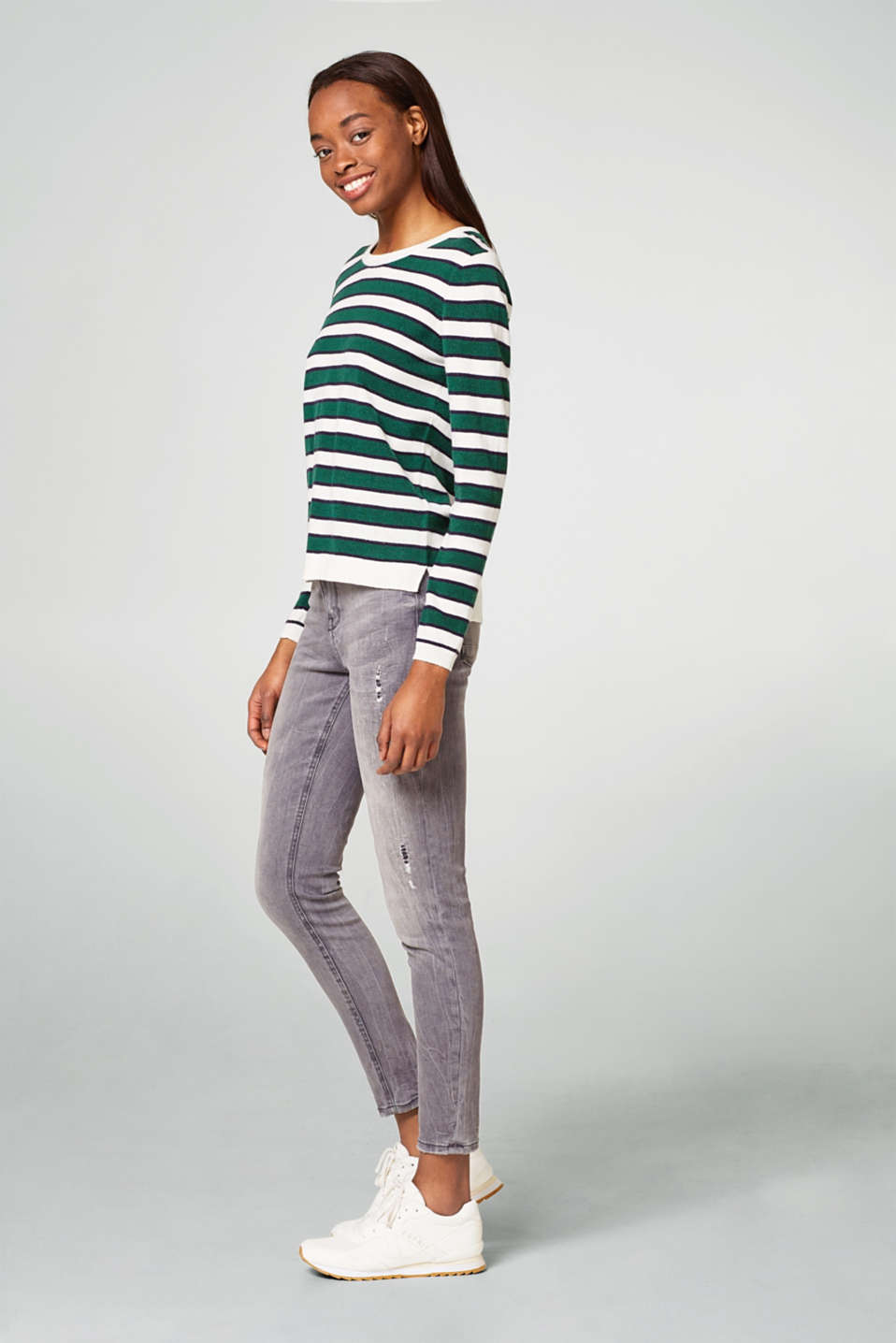Esprit - Stretch jeans with worn effects