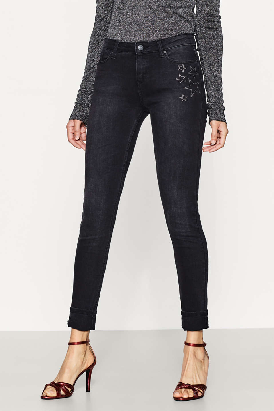 Esprit - Stretch jeans with star studs