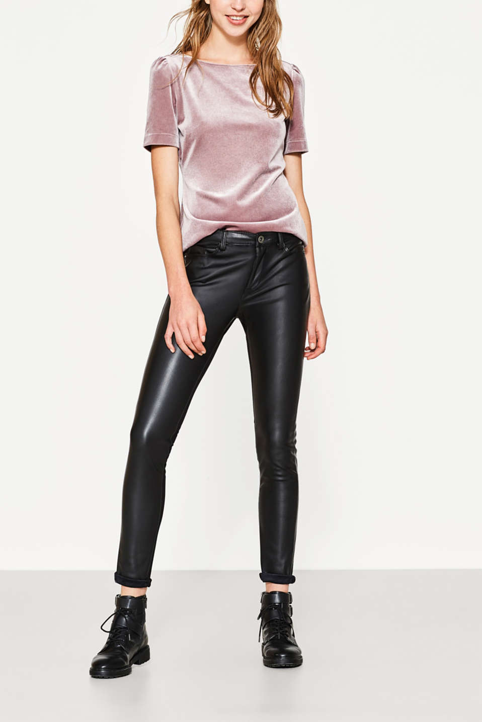 Esprit - Faux leather skinny trousers