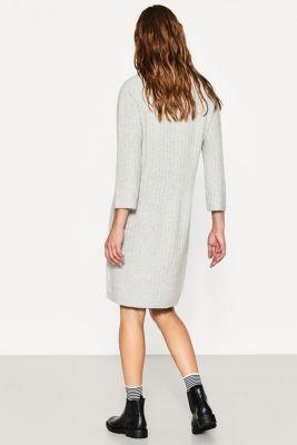 Kleid mit lockerem rollkragen zero