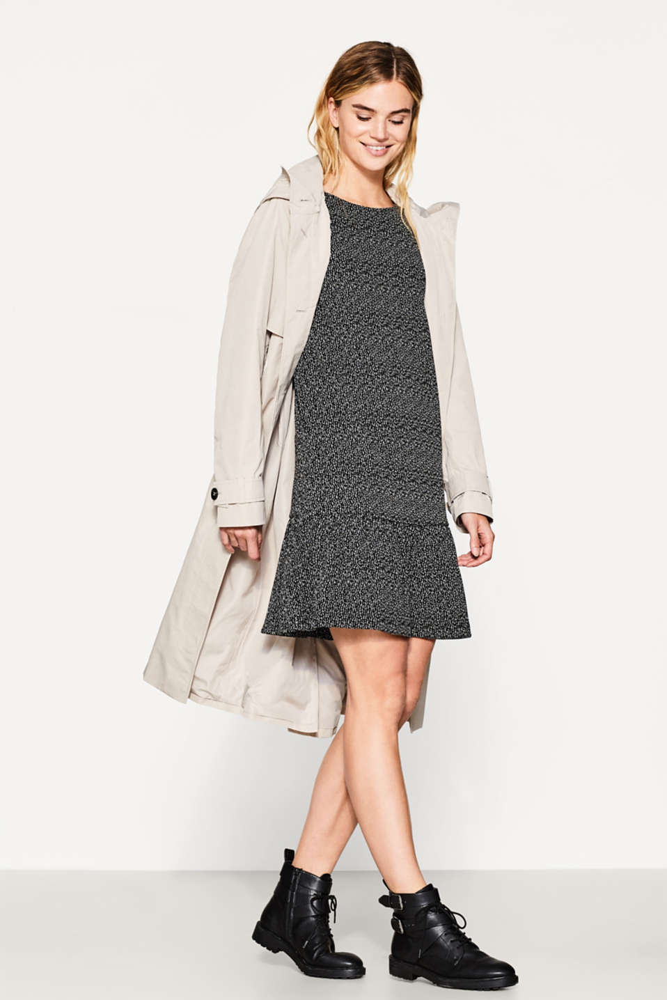 Textured dress in heavy jersey