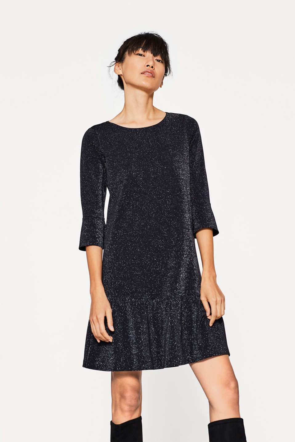 Esprit - Glitzerndes Jersey-Kleid in femininem Look