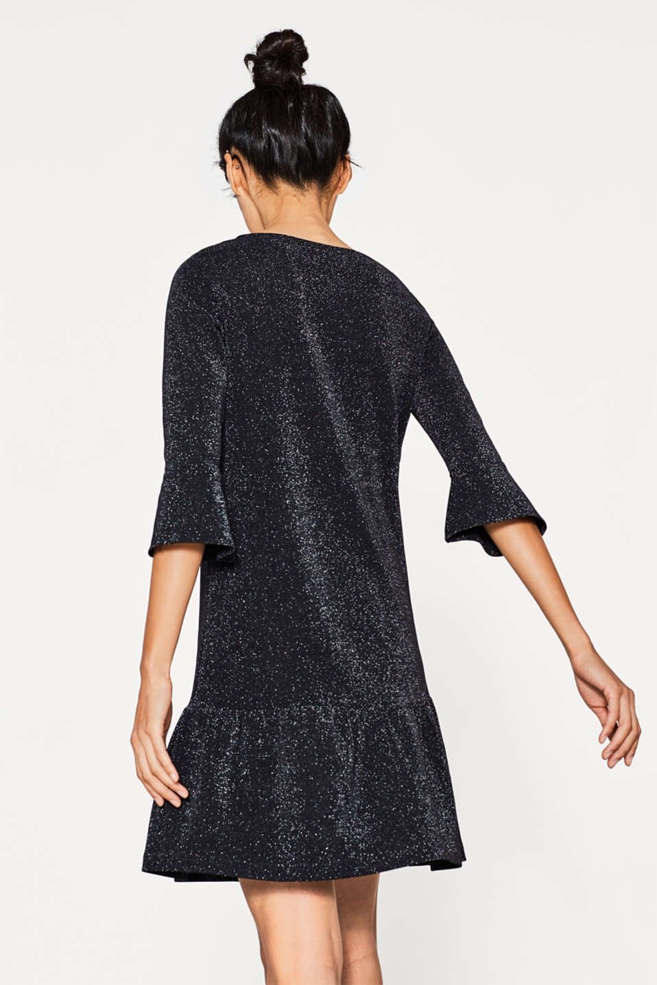 Glitzerndes Jersey-Kleid in femininem Look
