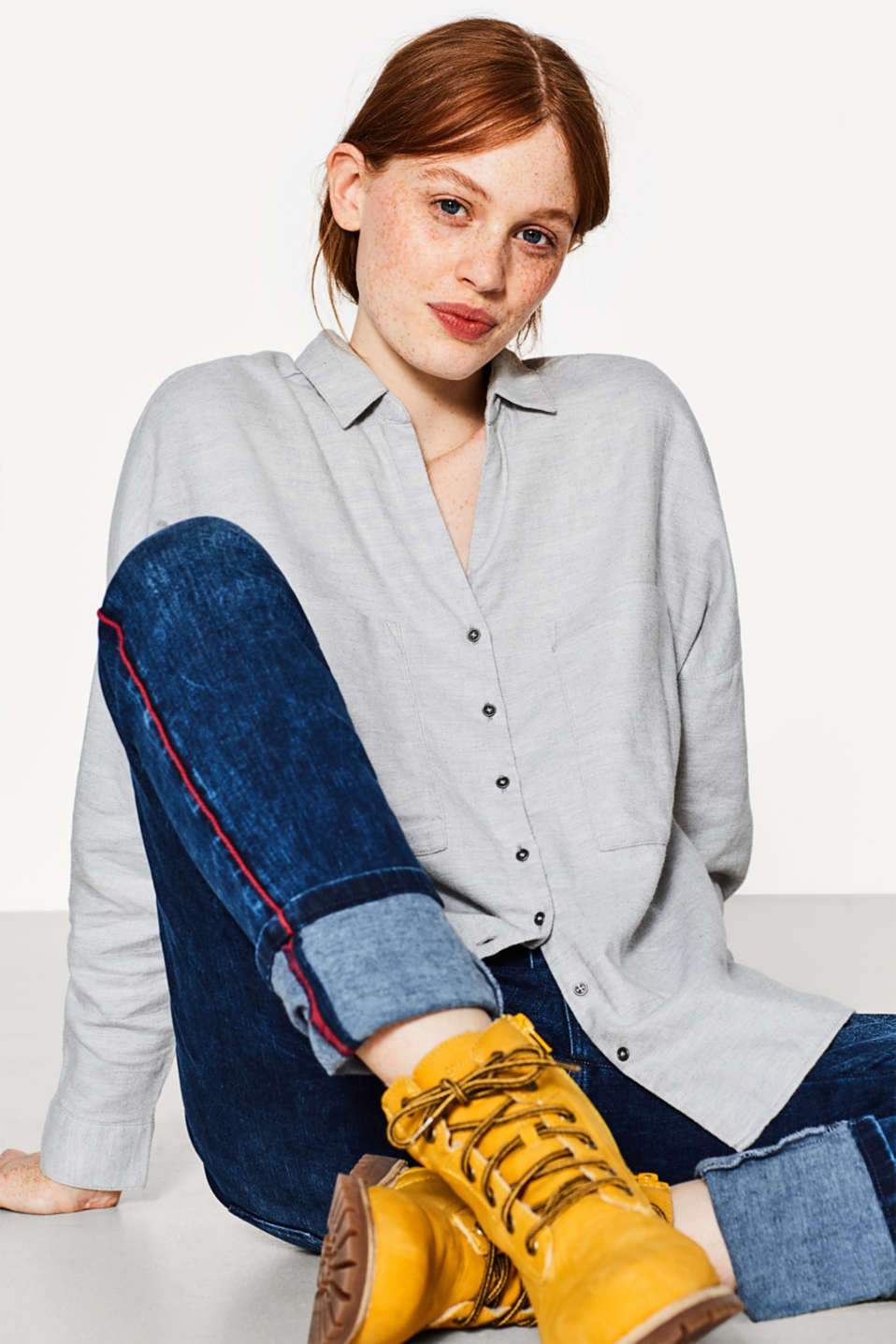 Esprit - Soft twill blouse in 100% cotton