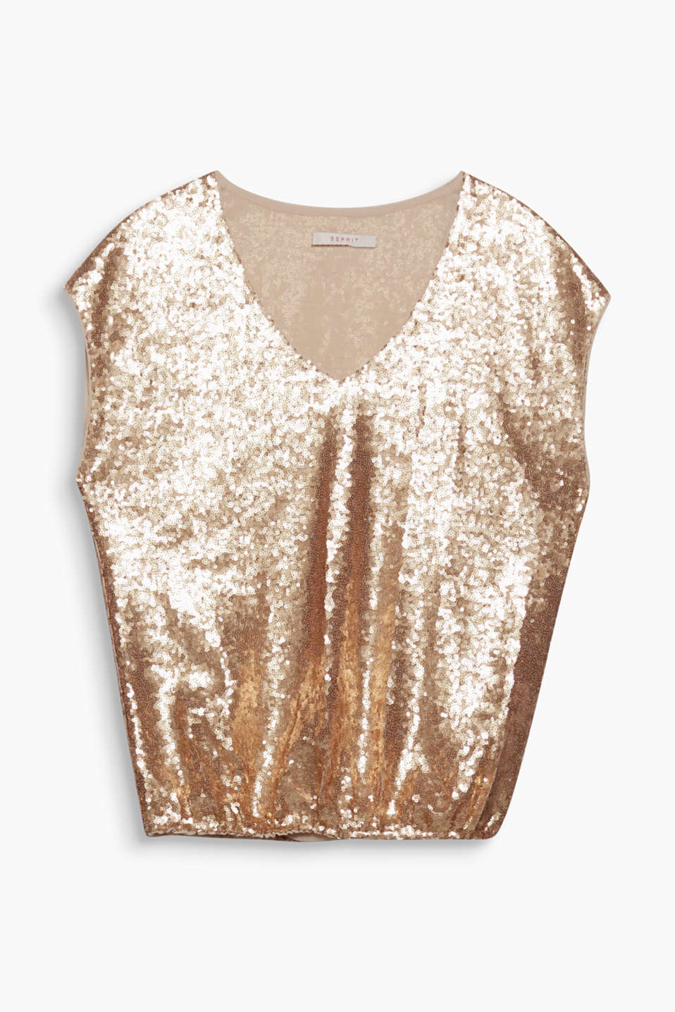 Embellishment: this blouse top with sequins all over will make your look stylish and glamorous!