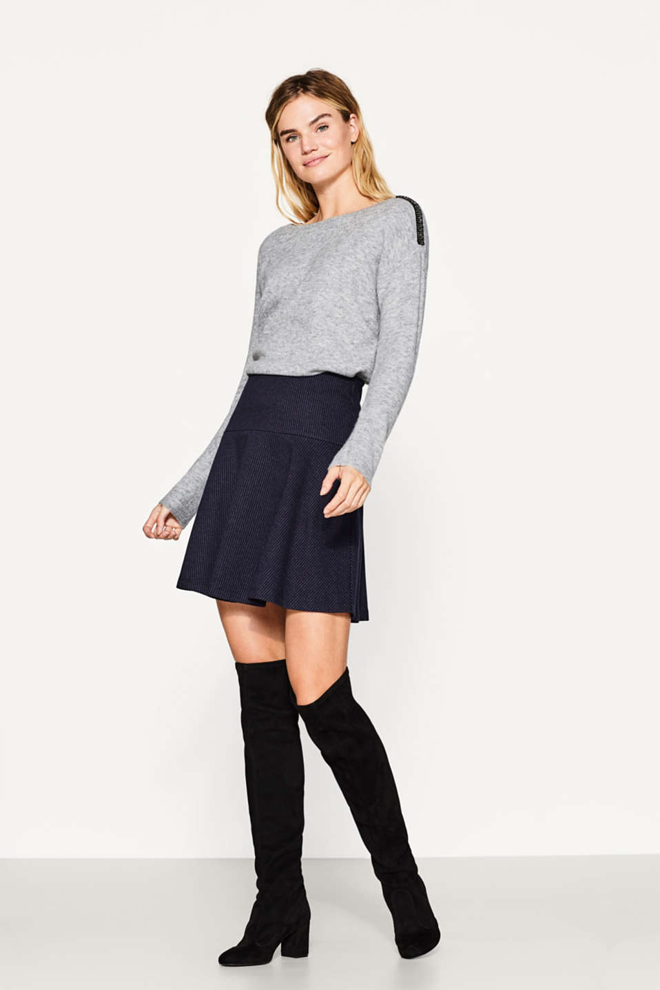 Jumper with glam embellished shoulders