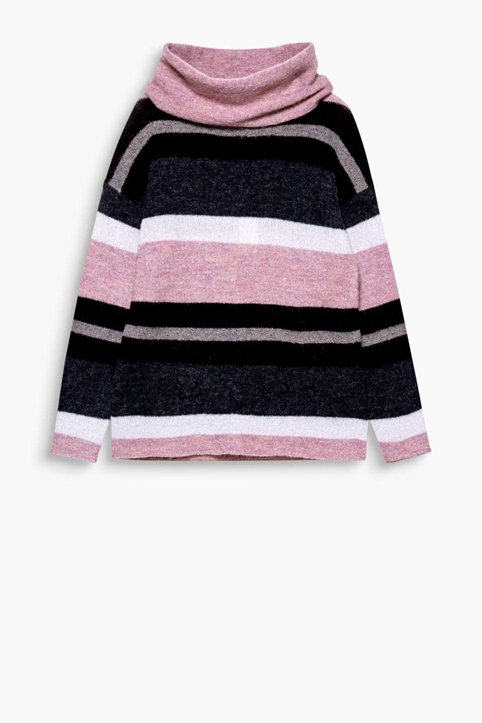 Cosy striped jumper with cold days: mohair and elastane make this jumper so light and comfortable!
