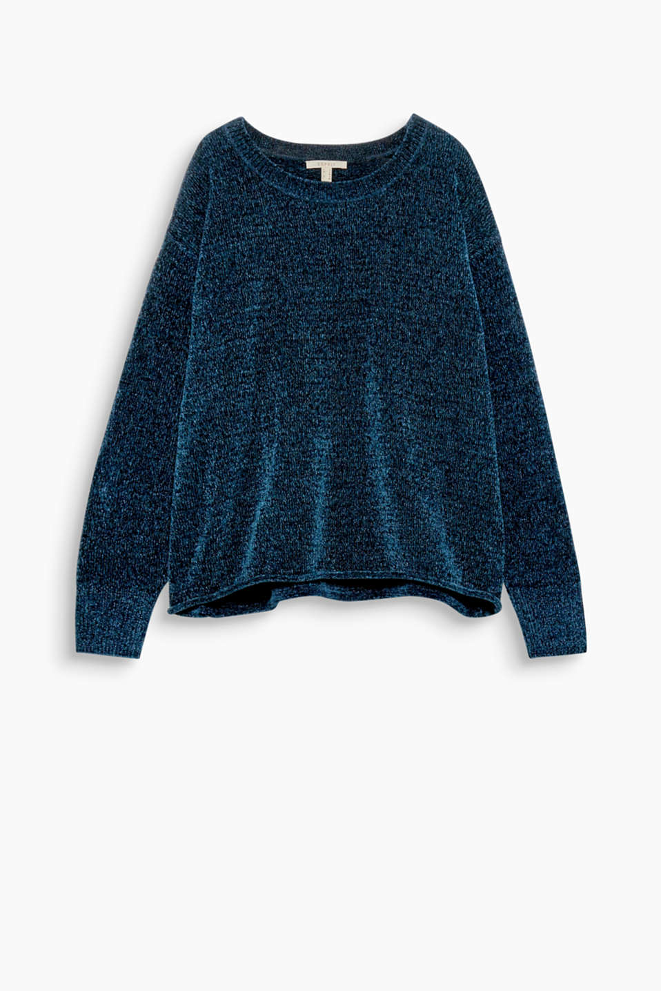 Perfect to snuggle up in: Soft chenille jumper in a relaxed oversized look.