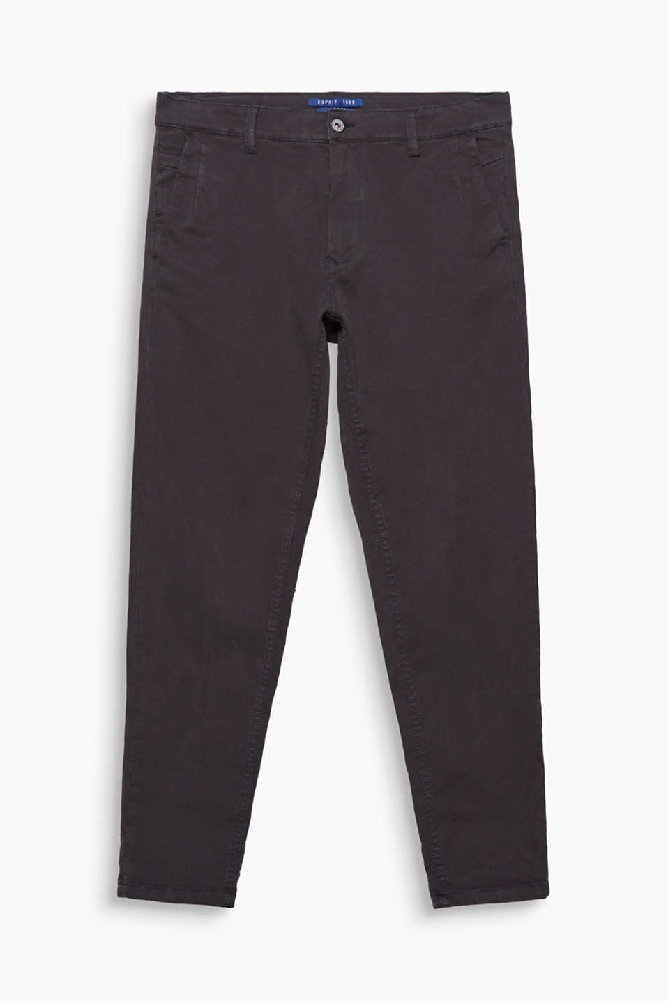 This casual, basic piece is a must for every wardrobe: twill trousers with added stretch for comfort.