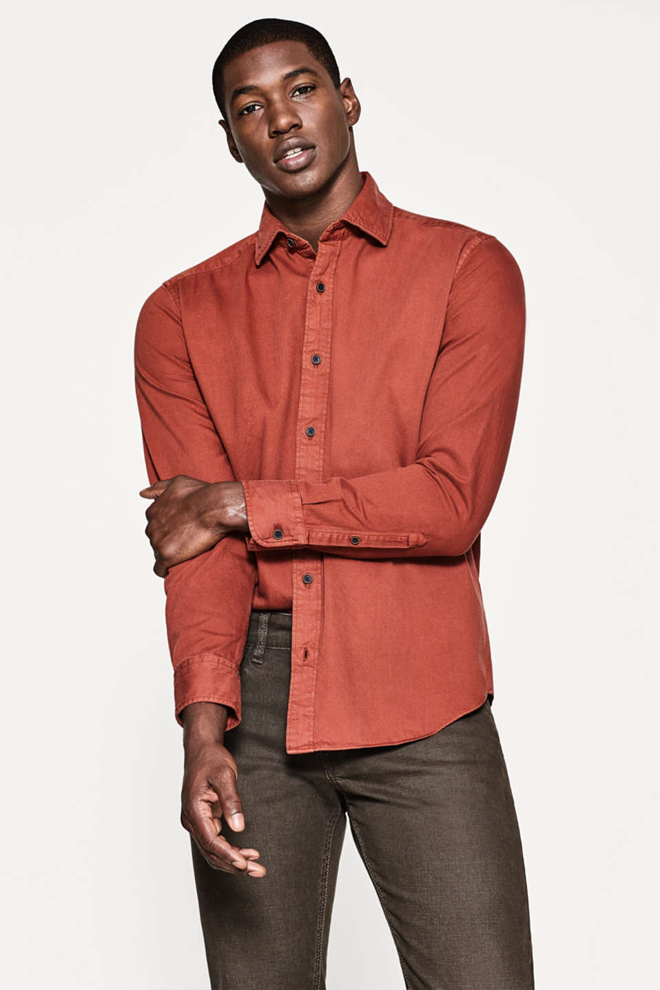 Esprit - Twill shirt in pure cotton