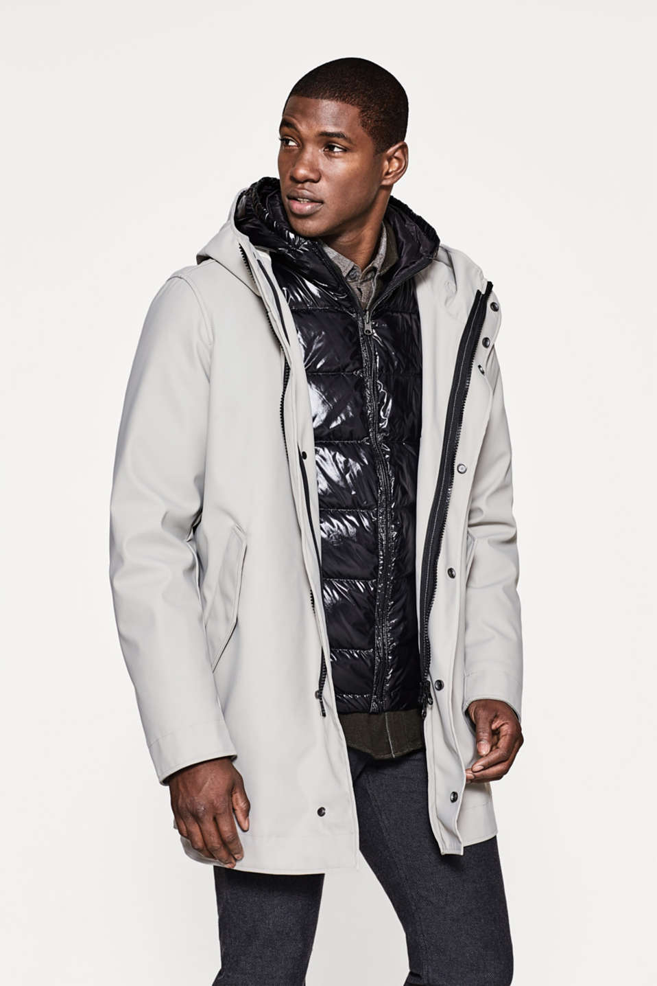 Multi-functional 4-in-1 hooded parka