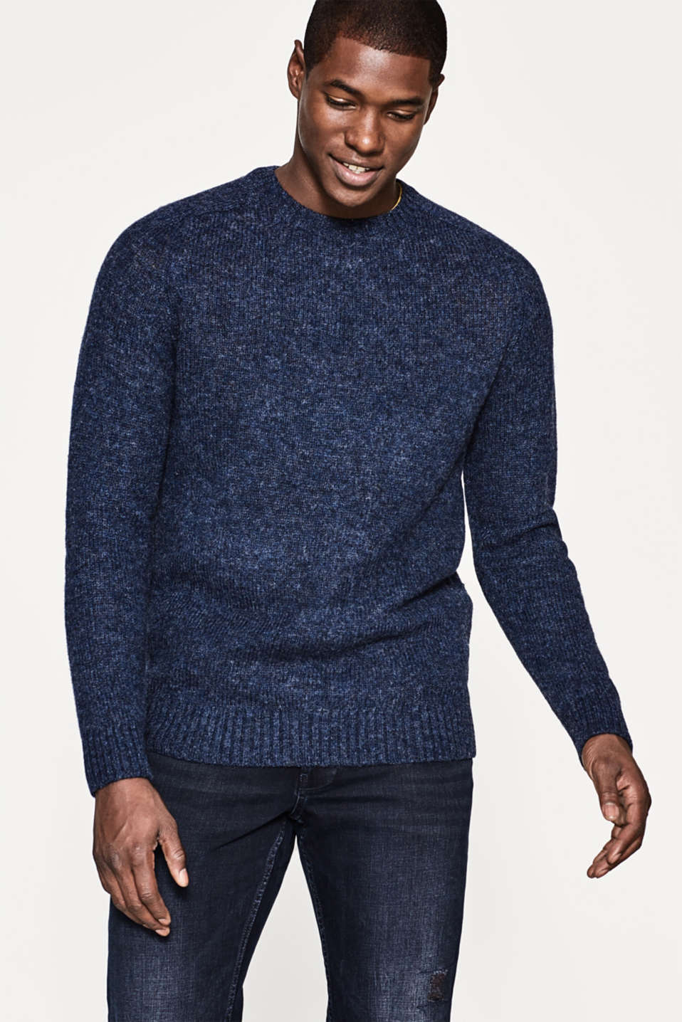 Esprit - Knitted jumper in pure wool