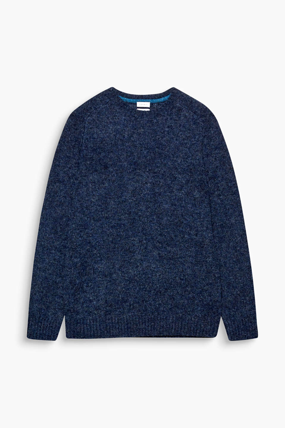 A premium companion for colder seasons! This jumper is made of pure wool.
