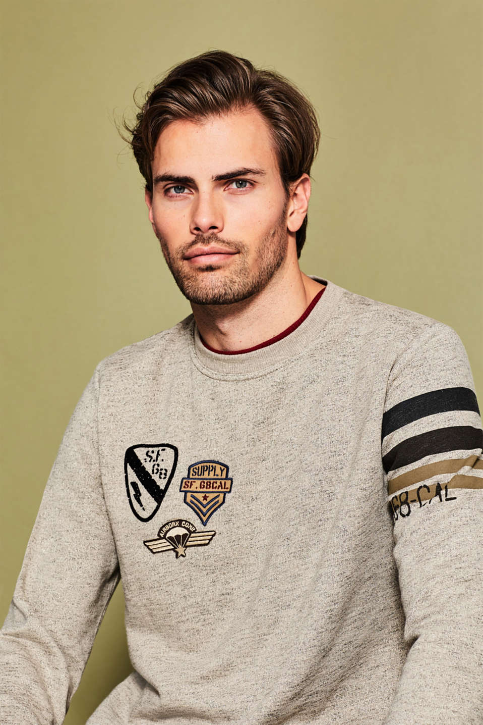 Esprit - Sweatshirt met coole patches
