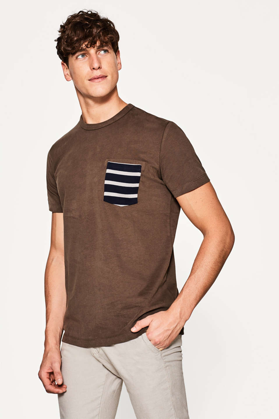 Esprit - Heavy jersey T-shirt, 100% cotton