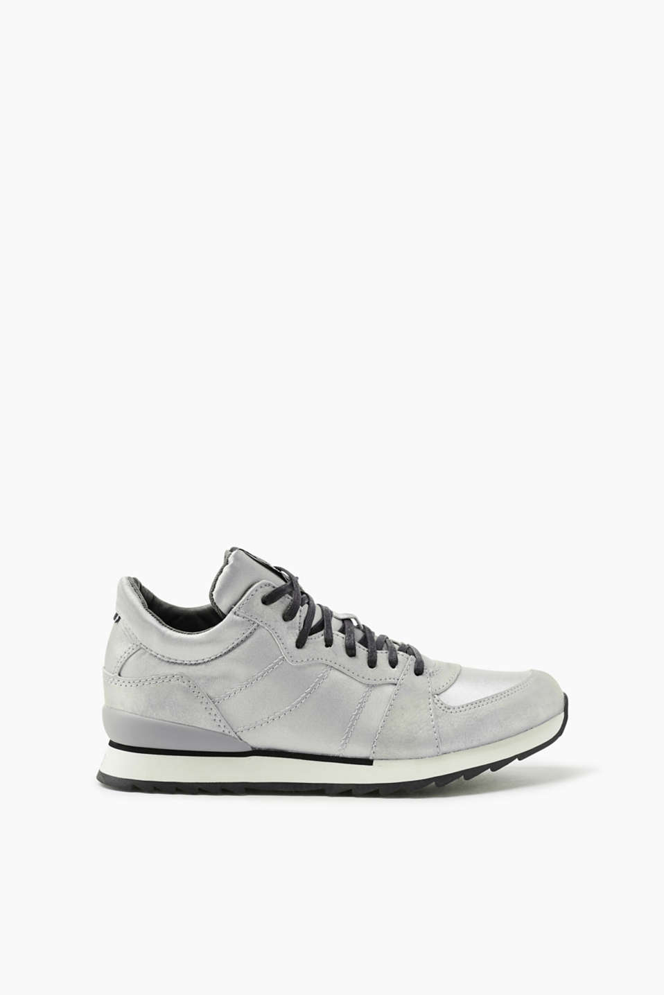Esprit - Cool mixed material metallic trainers