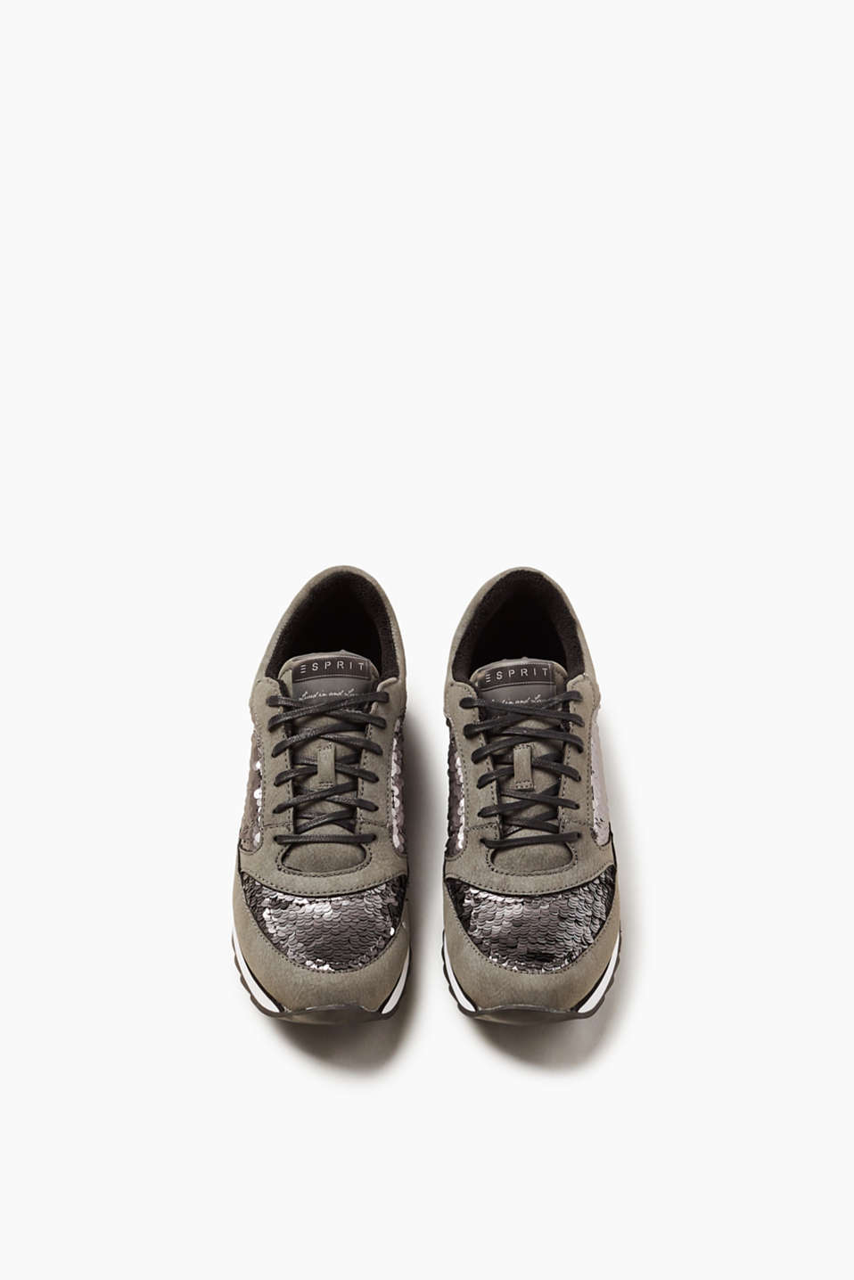 Lace-up trainers trimmed with sequins