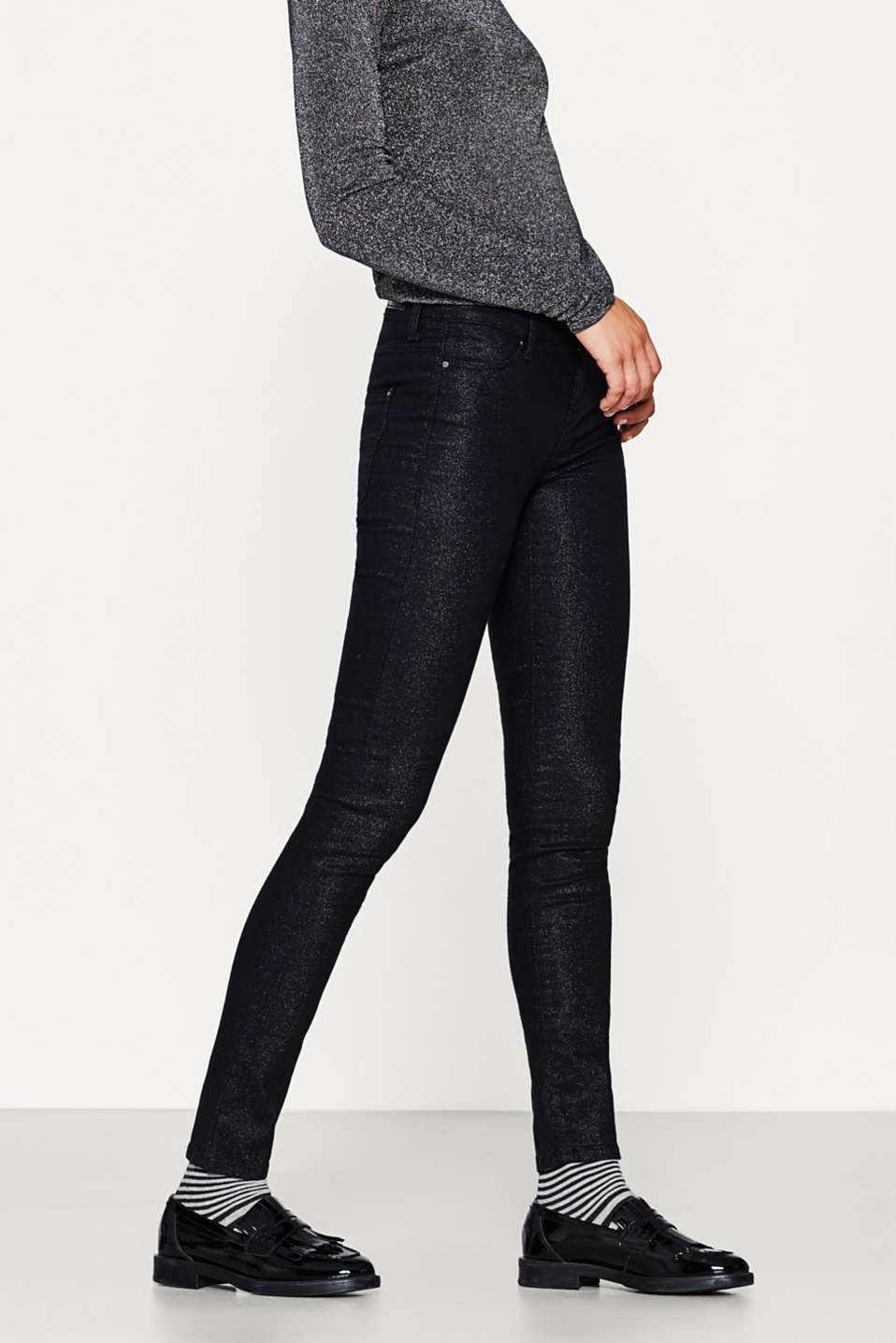 Esprit - Comfy + stretchy glittery jeans