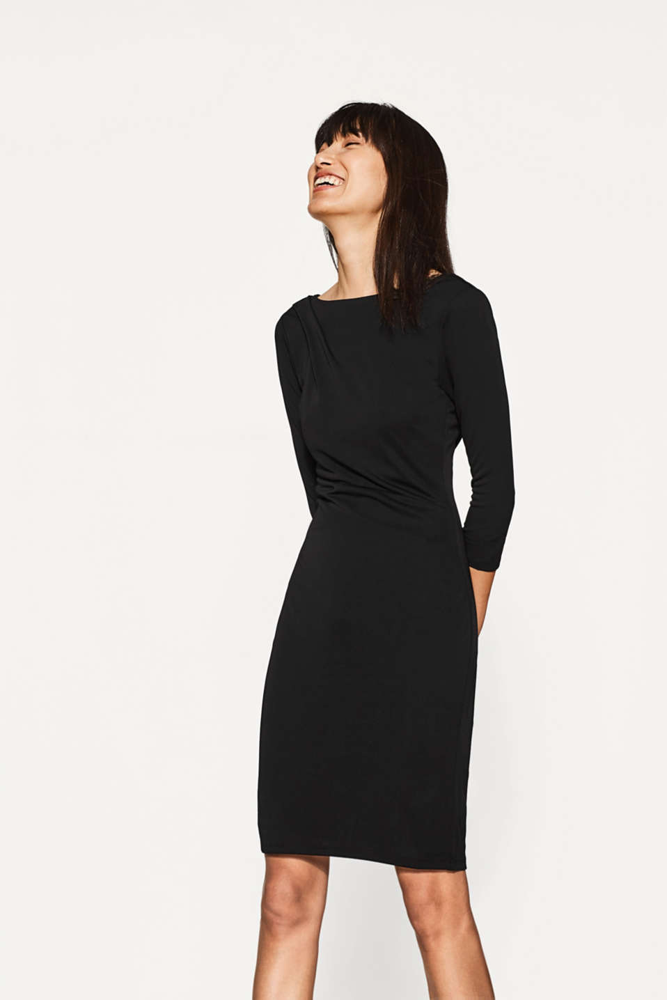 Esprit - Jersey dress with back neckline