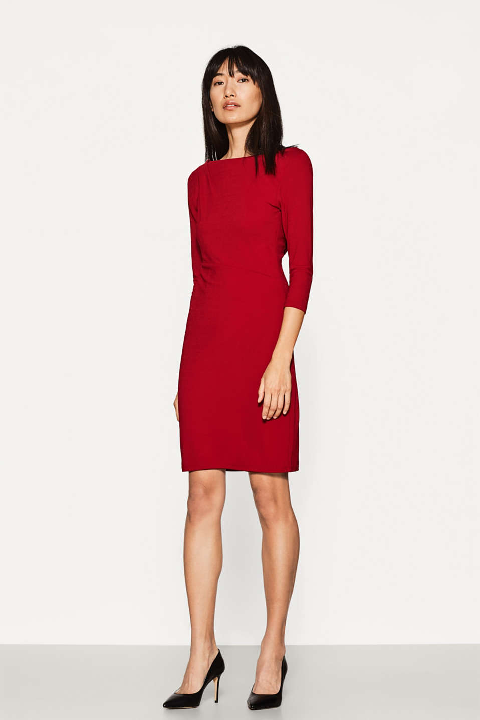 Jersey dress with back neckline