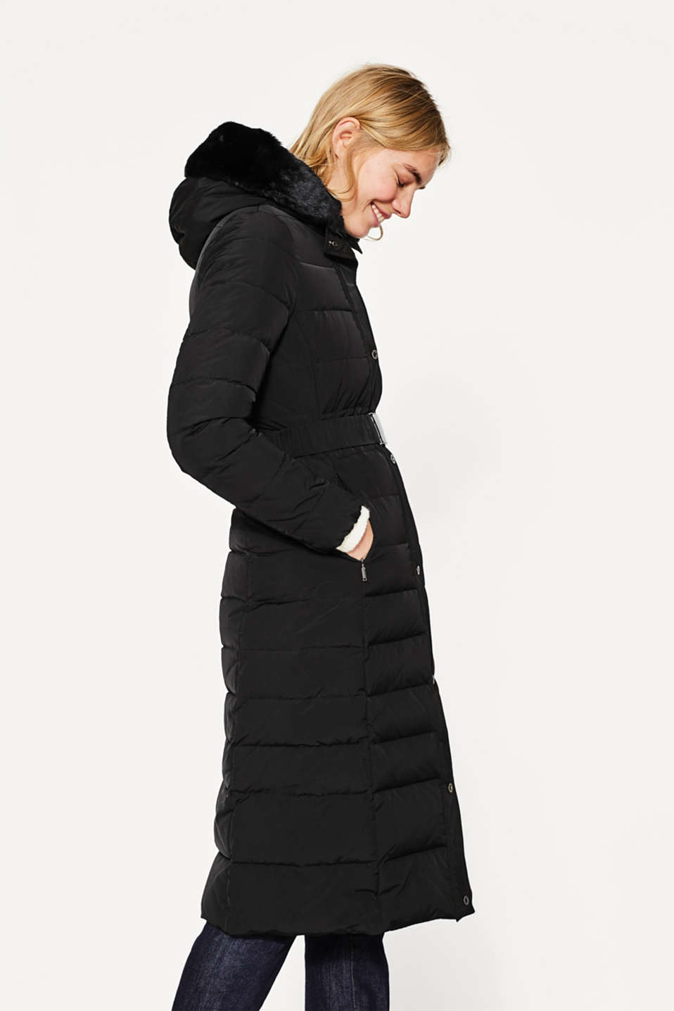 Esprit - Warm down coat with a hood