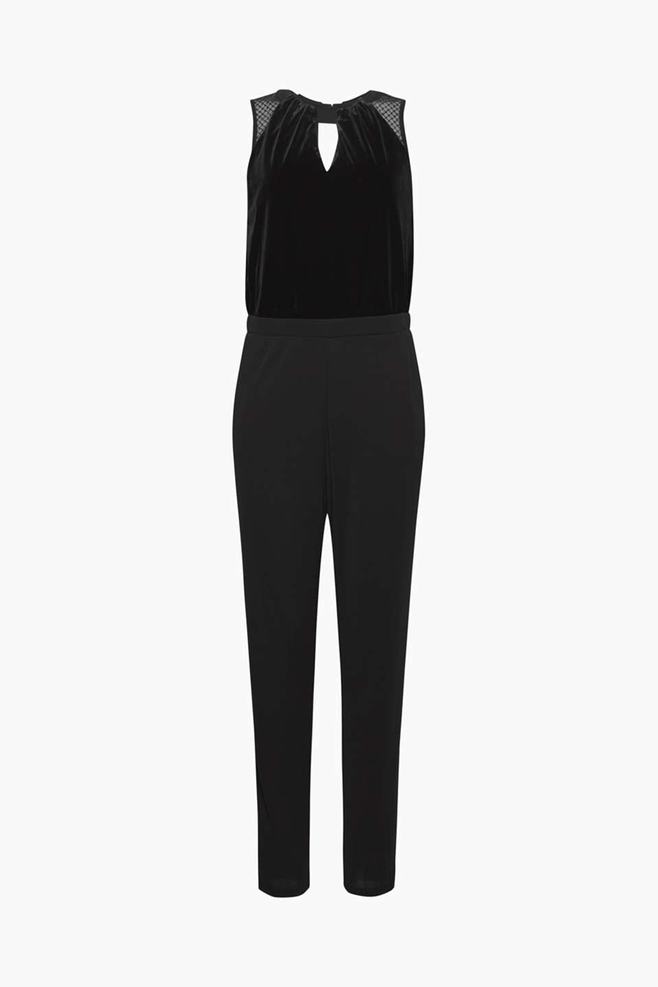 Party and celebration wear: This jumpsuit made of velvet, jersey and lace is the top alternative to a cocktail dress!