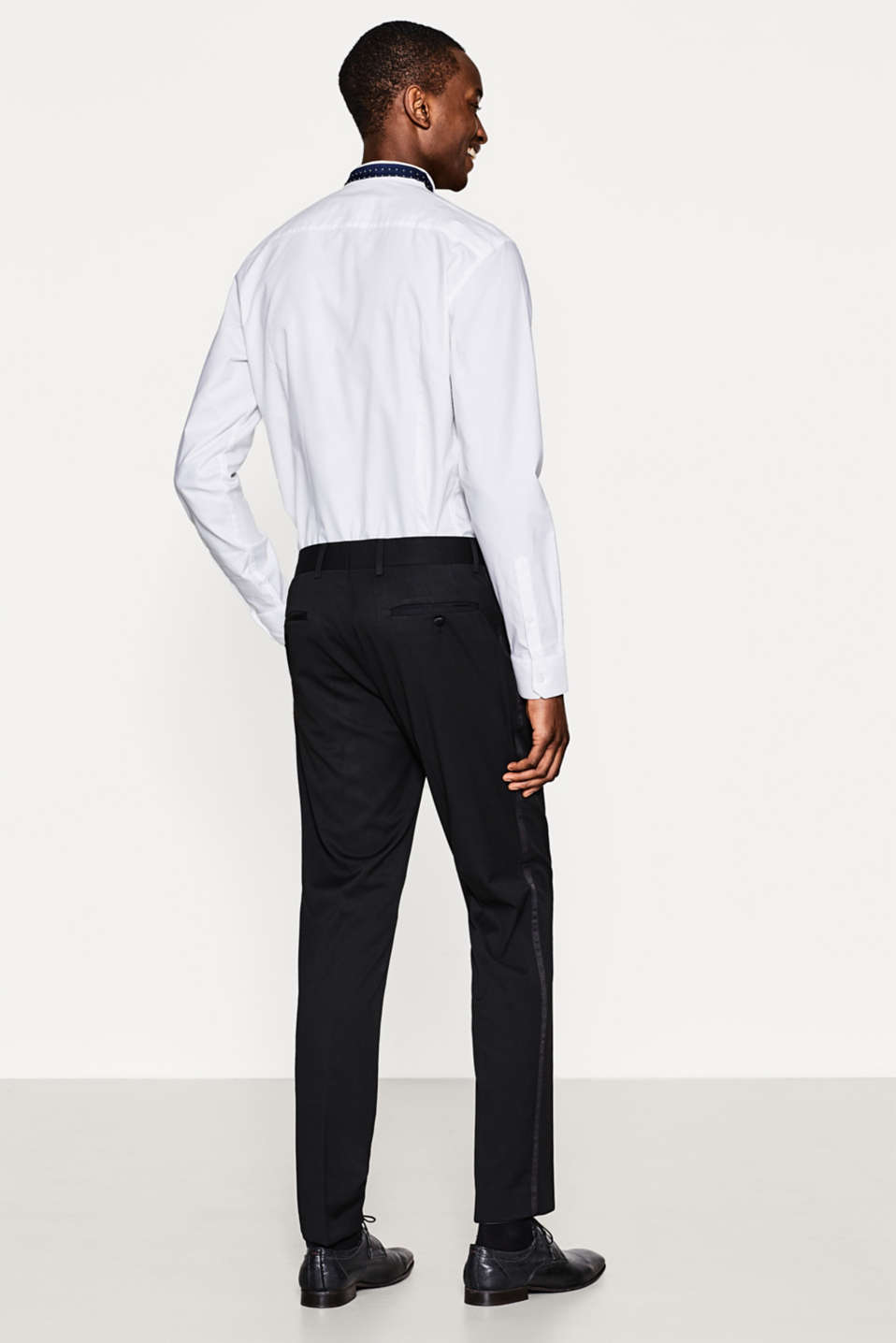 Elegant tuxedo trousers with side stripes