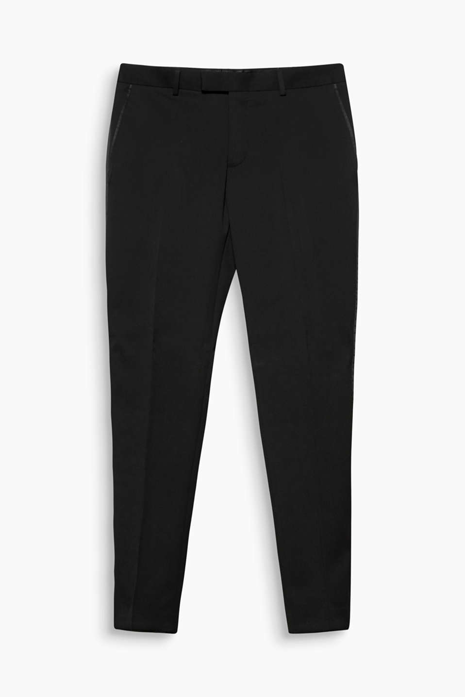 Dress code: Black tie. No problem with these classic, slim-fitting tuxedo trousers.