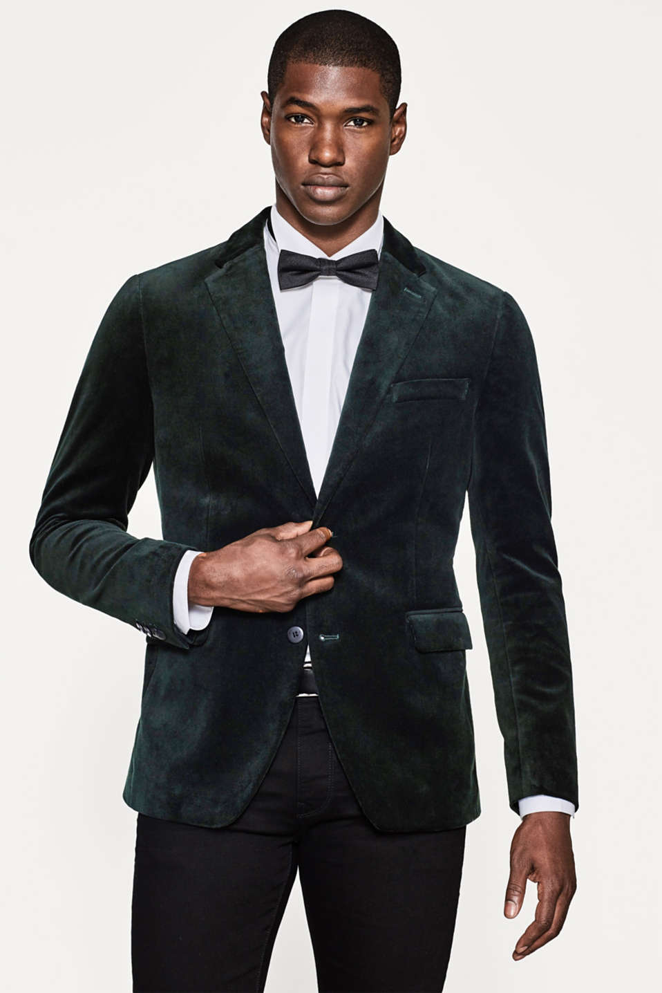 Esprit - Exquisite velvet jacket + stretch for comfort