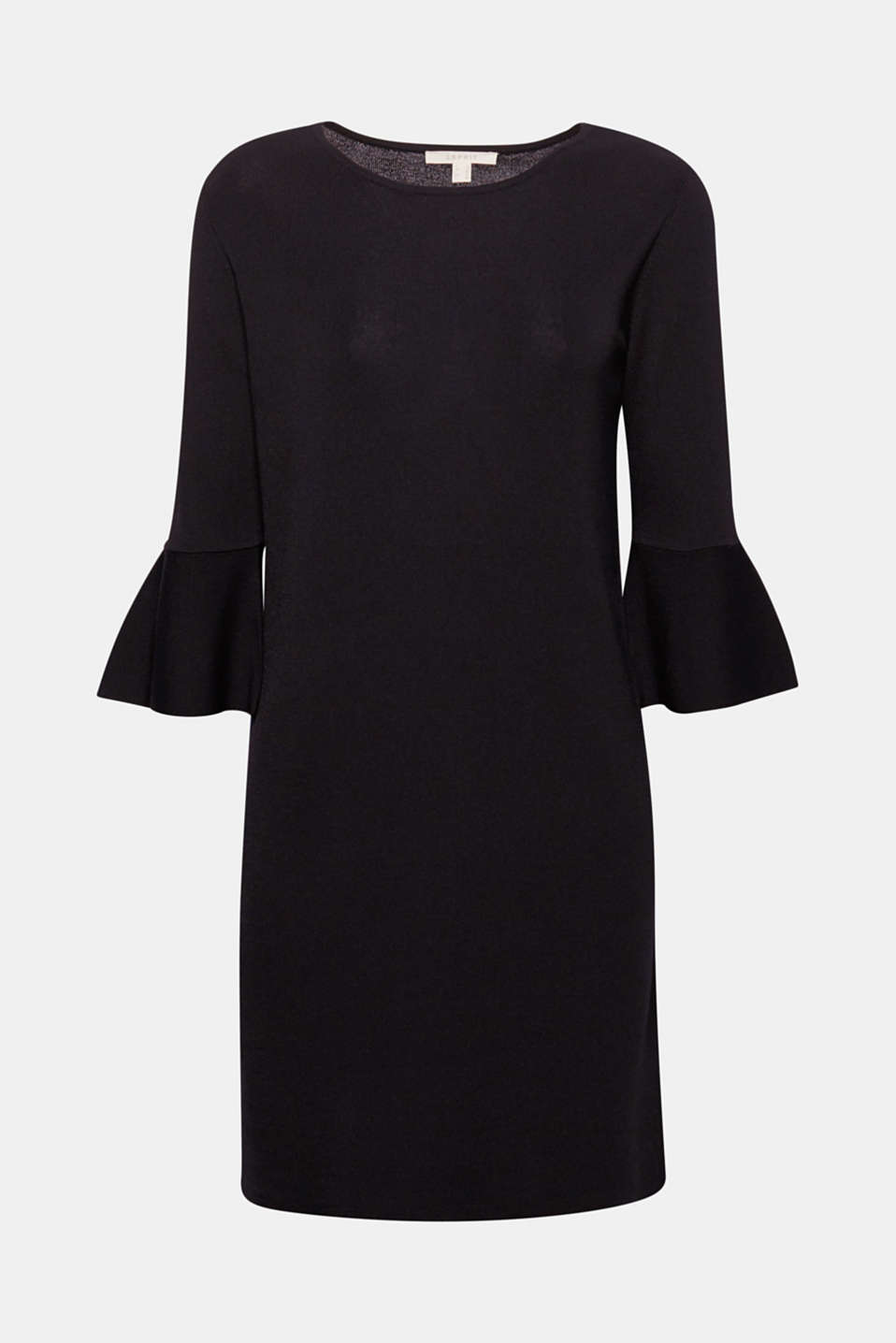 We love minimalistic designs, like this ribbed dress with trumpet sleeves