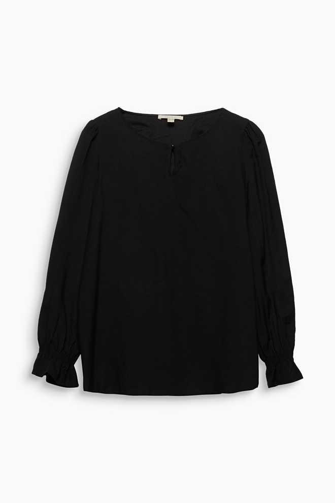 Jacquard-Bluse mit schimmernder Struktur