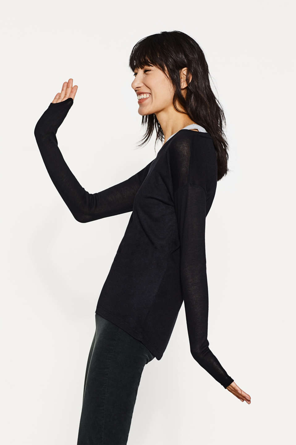 Esprit - 2-in-1: long sleeve top + tank top