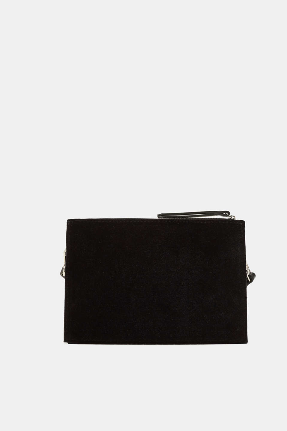 edc - Flat shoulder bag made of velvet