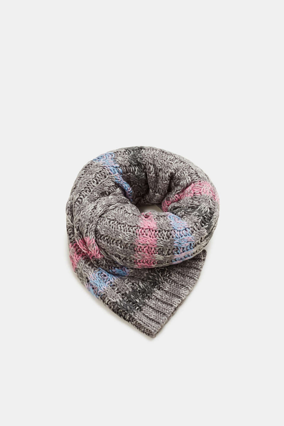 edc - Knit scarf with colourful stripes