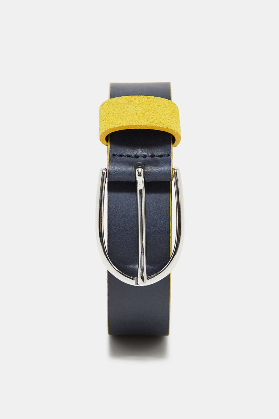 edc - Leather belt with edges in a contrasting colour