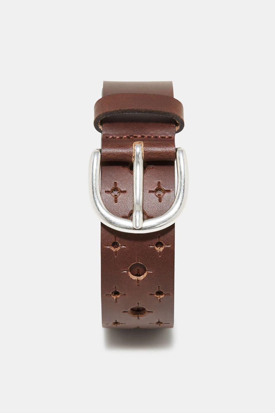 edc - Leather belt with an open-work pattern