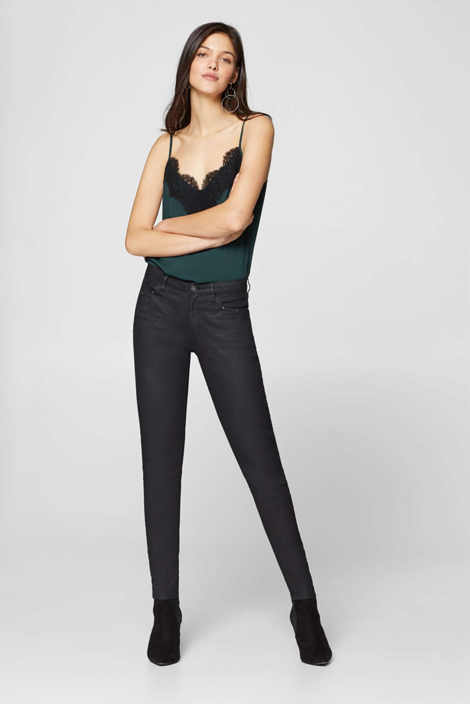edc - Coated stretch cotton jeans