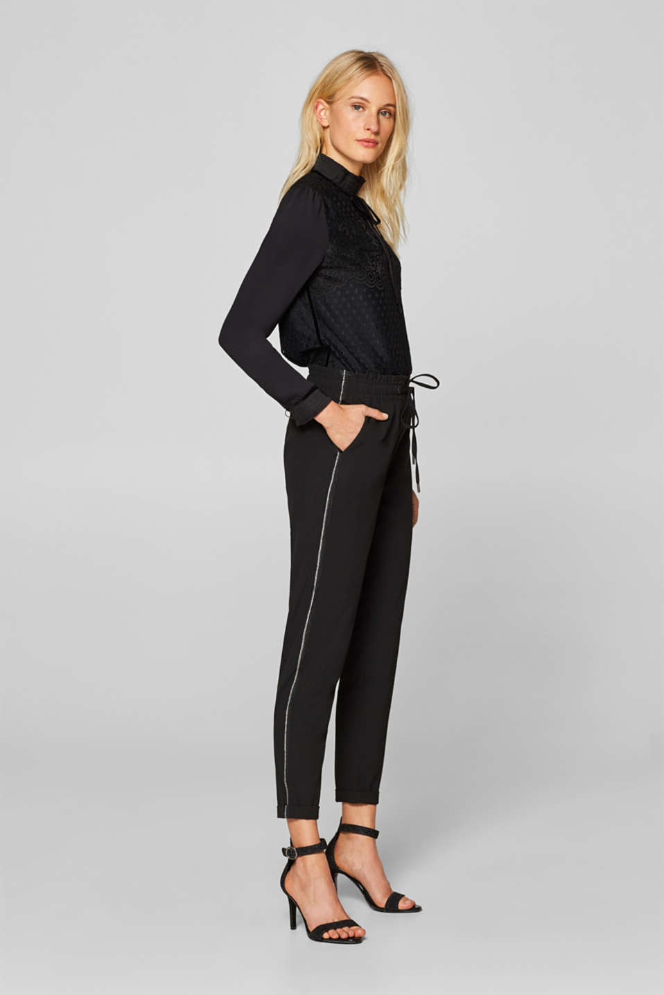 edc - Trousers with side stripes