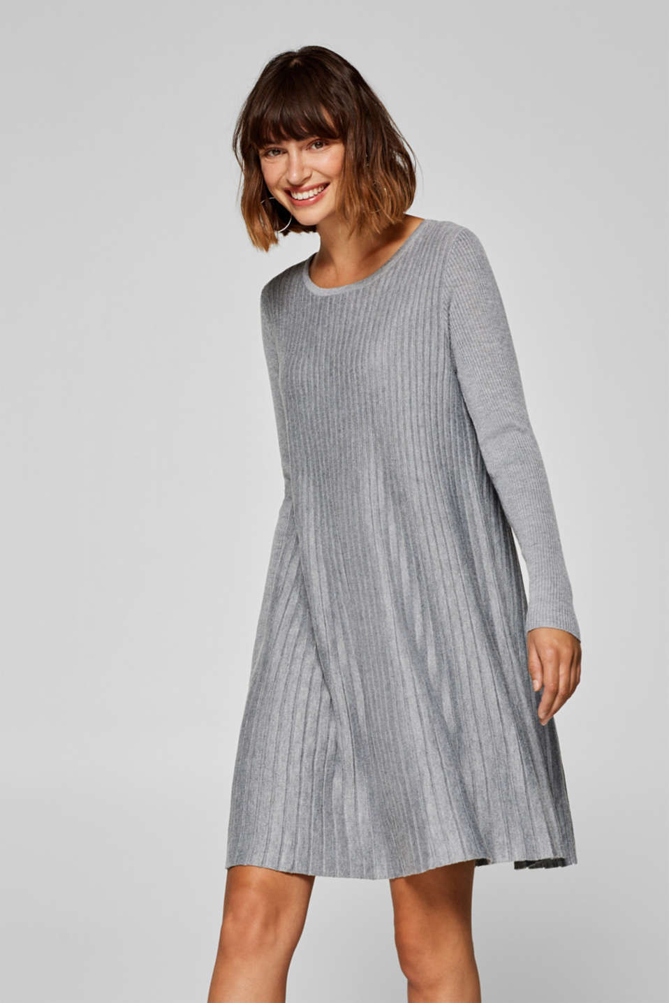 edc - Knitted A-line dress with pleats