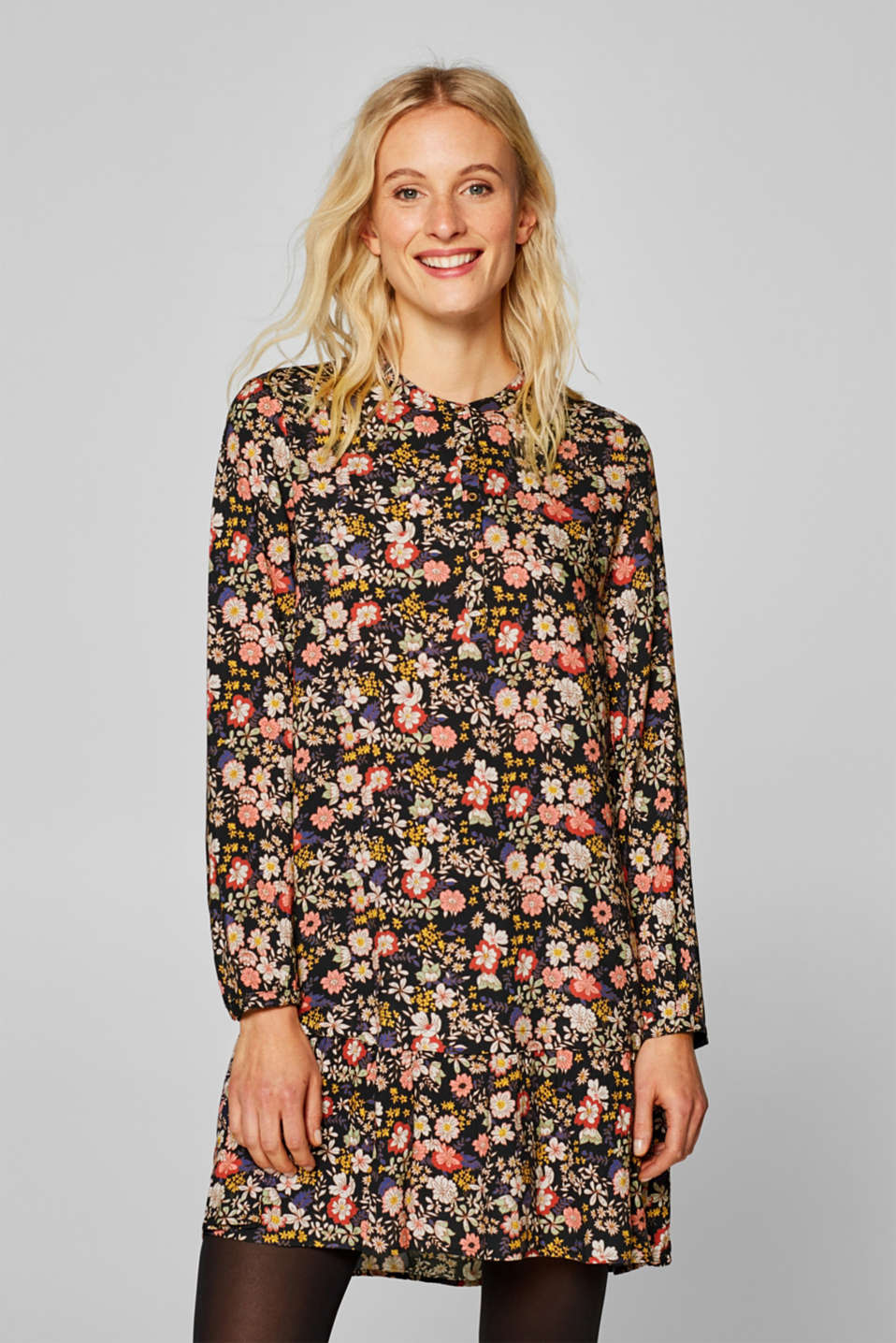 edc - Shirt dress with a floral print