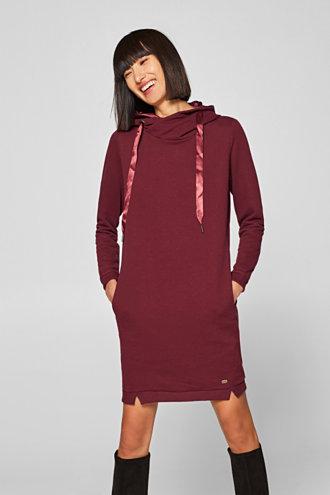 edc - Sweatshirt-Kleid mit Kapuze und Satinband im Online Shop kaufen 1b77bd2630