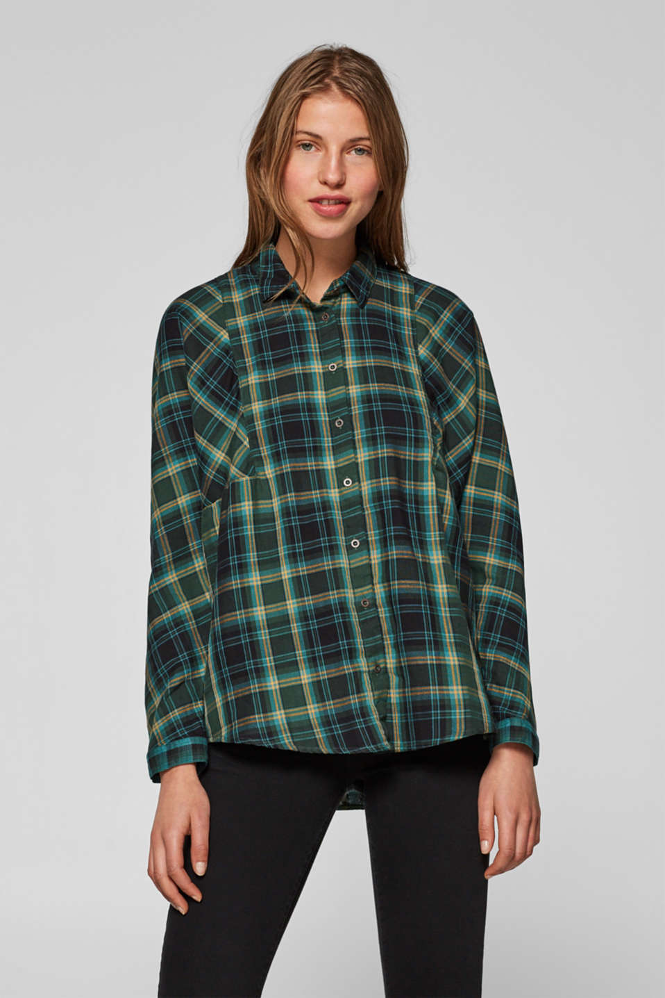 edc - Checked blouse with organic cotton