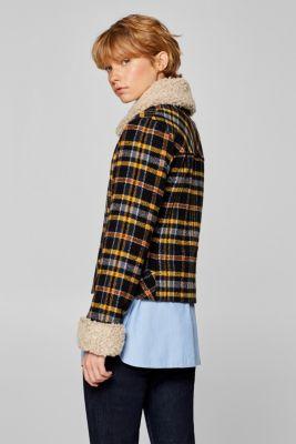 edc – Z vlněné směsi  vatovaná bunda s buklé detaily v našem on-line ... a5d21876f6d