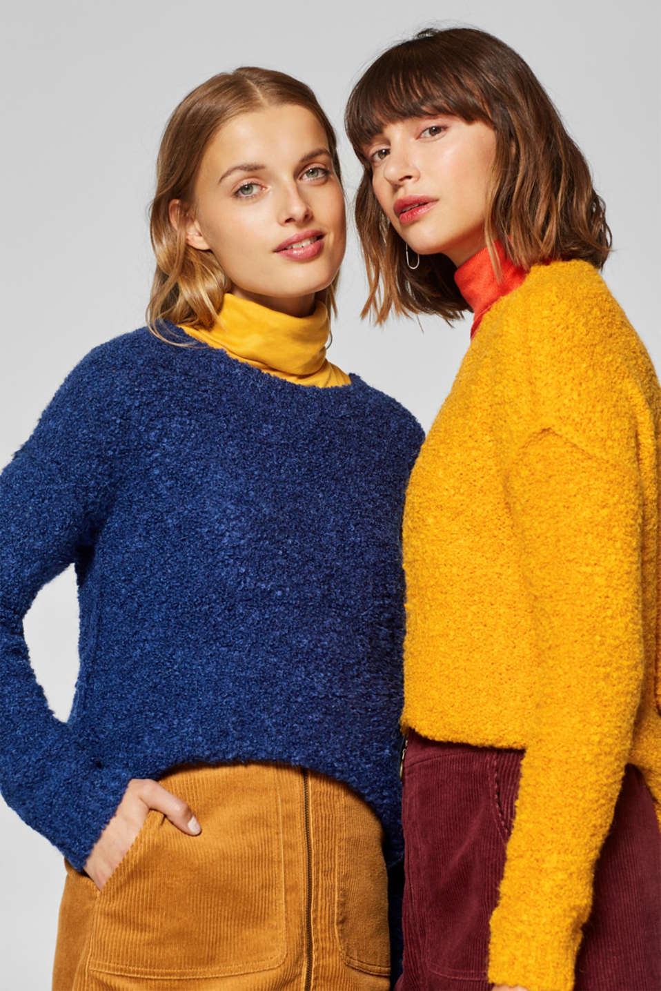 edc - Containing wool and alpaca: bouclé jumper