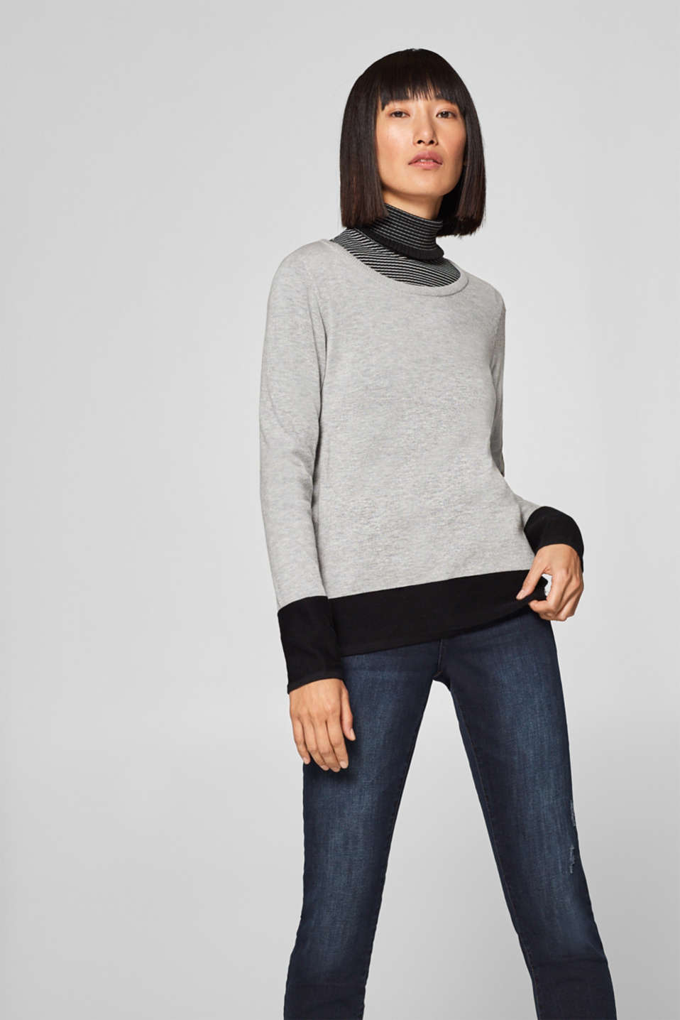 edc - Jumper with ribbed details