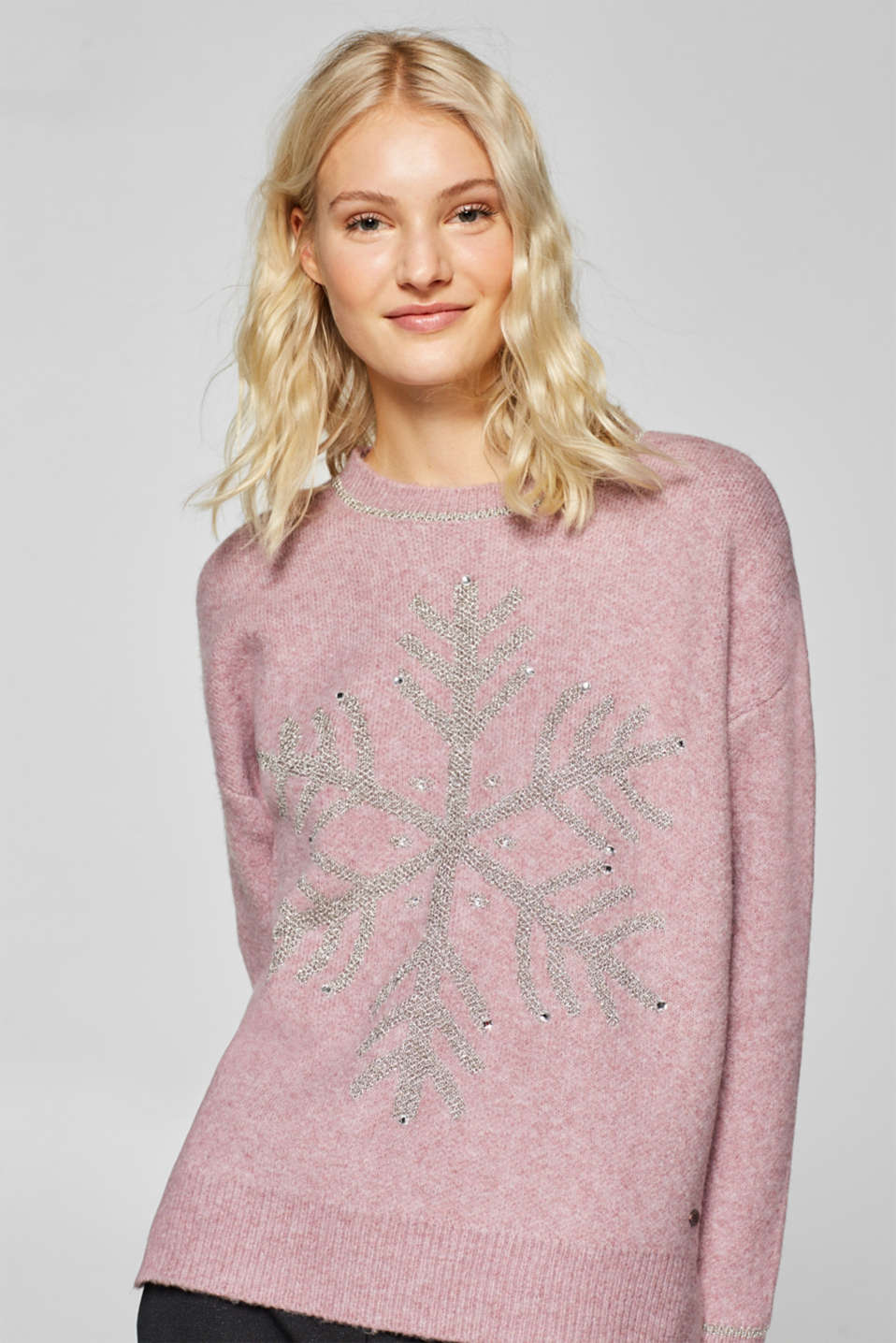 edc - With wool: Jumper with glittering intarsia