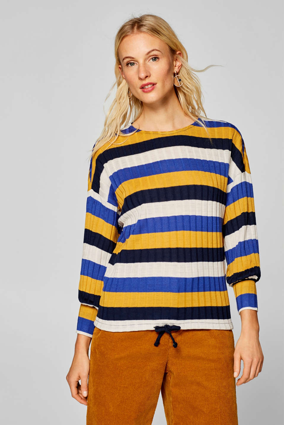 edc - Long sleeve top in a ribbed look