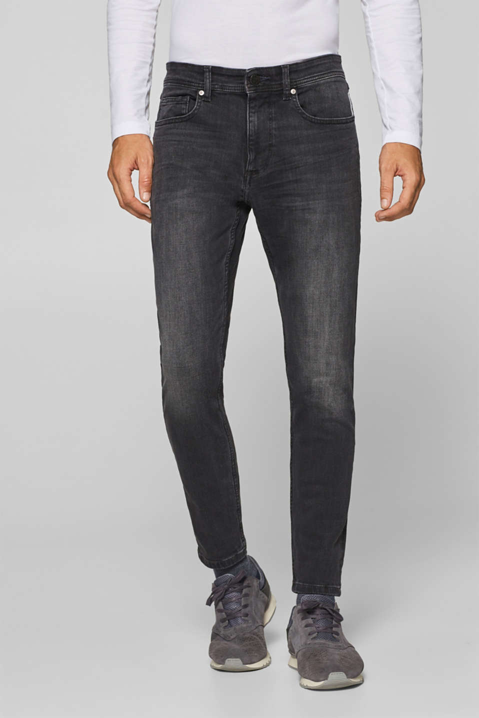 edc - Super stretch jeans with a garment wash